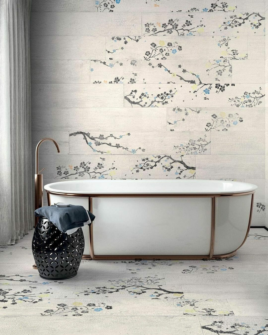 Kasai Carta Sakura porcelain tiles from Tile Club