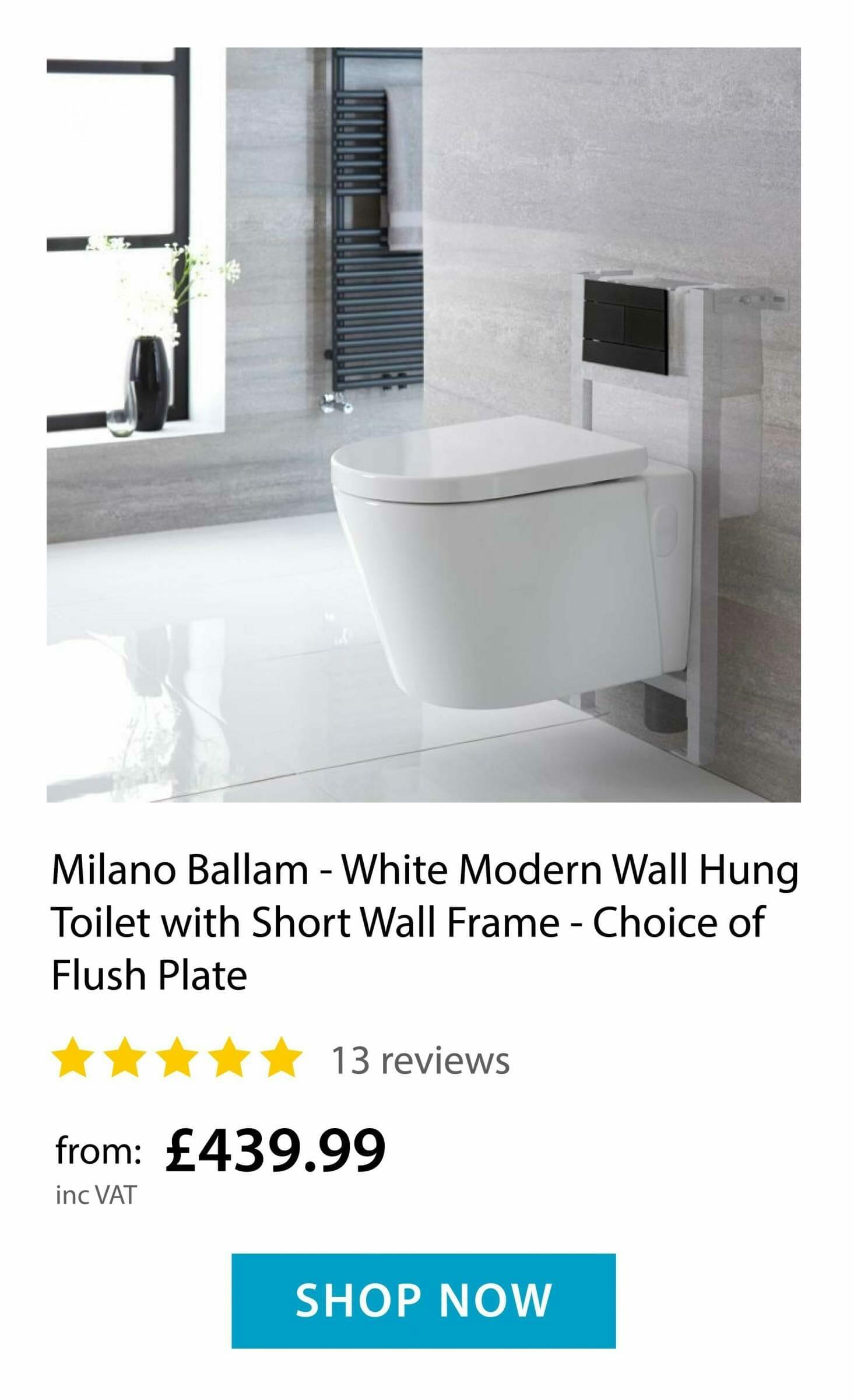 Milano Ballam Wall Hung Toilet